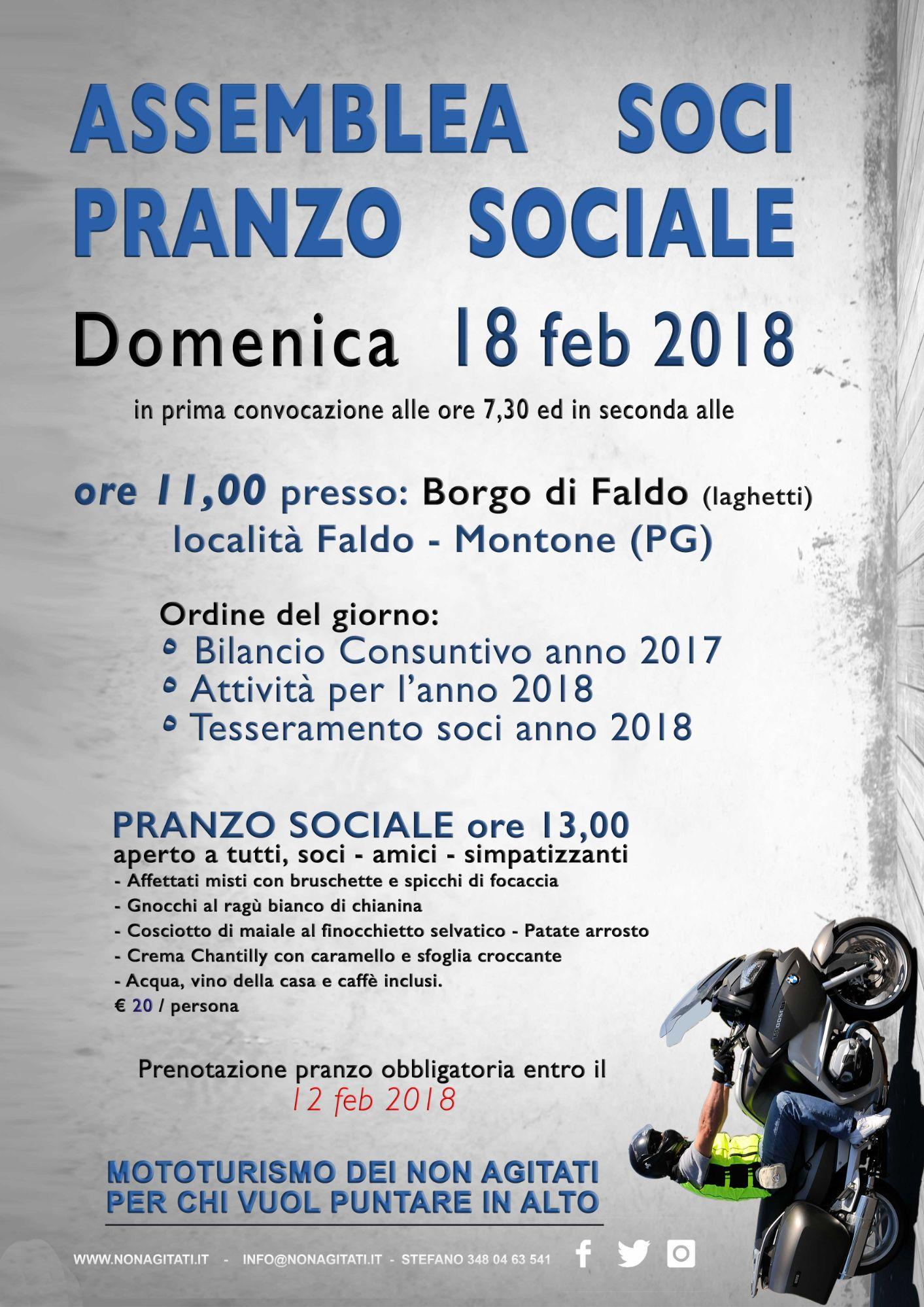 ASSEMBLEA SOCI - PRANZO SOCIALE